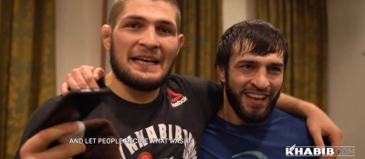 Islam Makhachev and his team at UFC St. Petersburg!